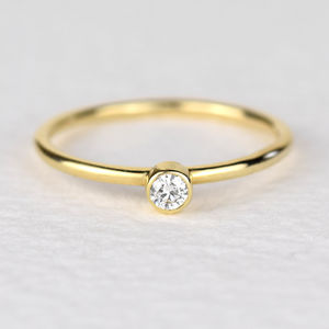 Andromeda Gold Diamond Ring - new in jewellery