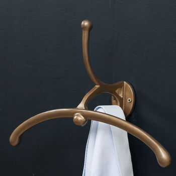Gents Burnt Gold Wall Mounted Clothes Valet
