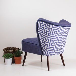 The New Bartholomew Cocktail Chair In Alto And Meander - furniture