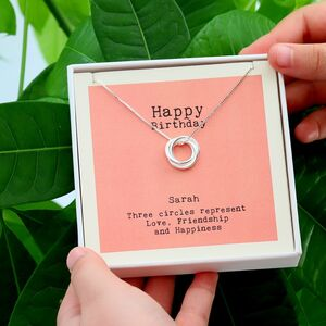 Personalised Birthday Necklace For Her
