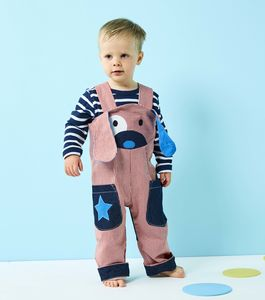 Kids Stripe Dog Dungarees Costume - fancy dress