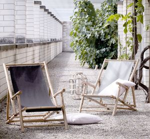 Bamboo Deck Chair - garden styling