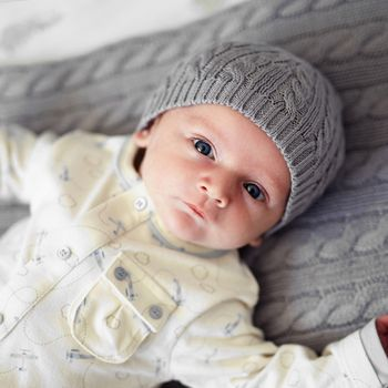 Baby Boys Cable Hat
