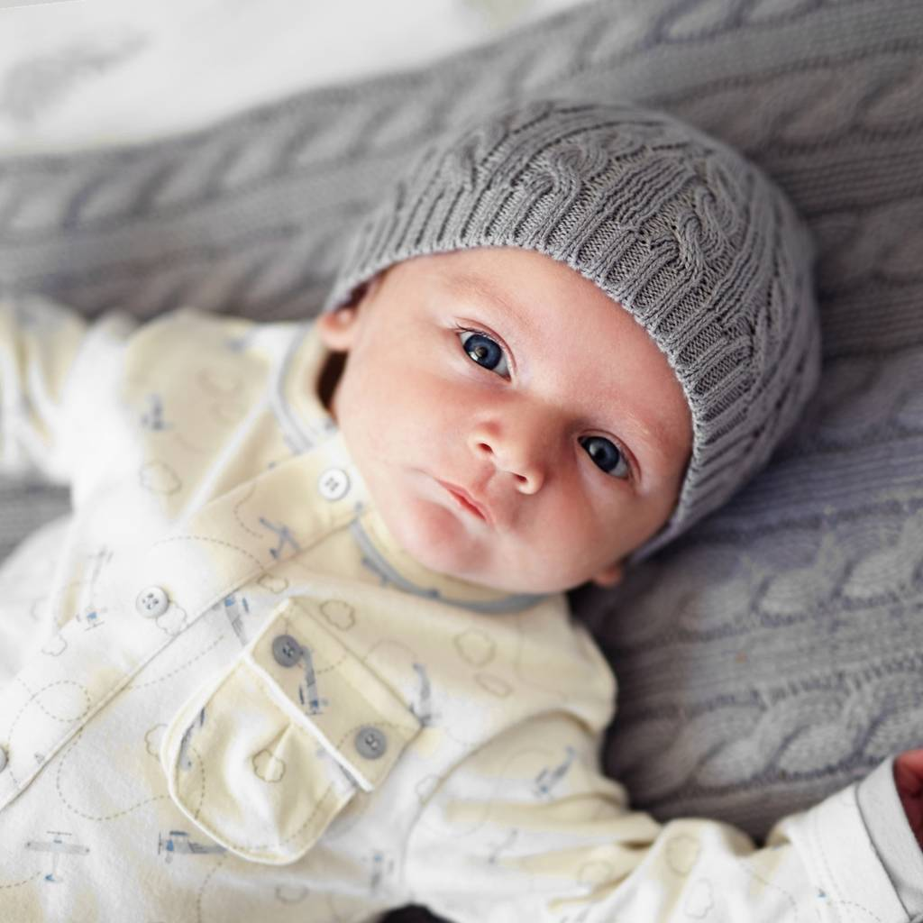 baby boys cable hat by toffee moon  36f56758445e