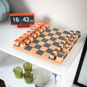 Comtemporary Wooden Chess Set