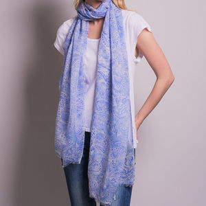 Fine Knit Paisley Scarf - women's accessories