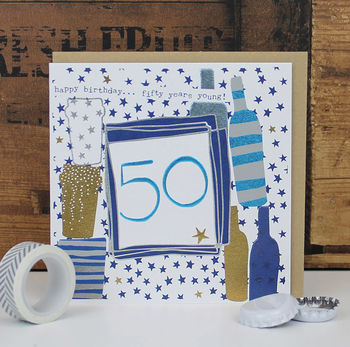 50th Birthday Card Male/ Female