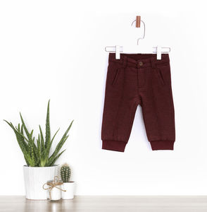 Wool Blend Baby Boys Trousers