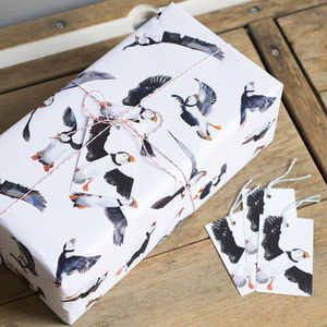 Puffin Parade Wrapping Paper - shop by category