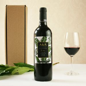 Personalised Botanical Best Man's Wine
