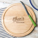 Personalised Round Chopping Board For Him