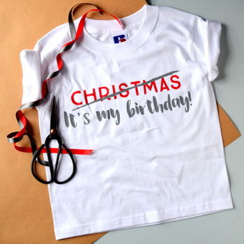 Child's Christmas Birthday T Shirt