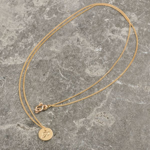Solid Gold Mini Double Sided Initial Necklace - necklaces & pendants