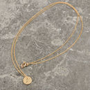 Solid Gold Mini Double Sided Initial Necklace