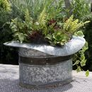 Zinc Top Hat Planter