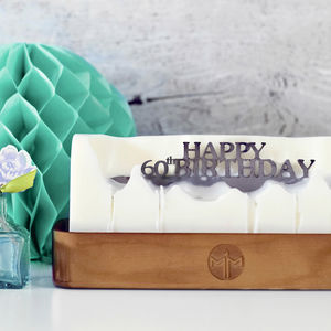 'Happy 60th Birthday' Hidden Message Candle - 60th birthday gifts