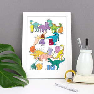 Dinosaur Number Print - animals & wildlife