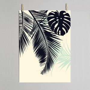 Palm And Monstera Leaf Print