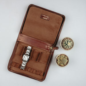 Luxury Leather Watch Case For Men. 'The Atella' - watch storage