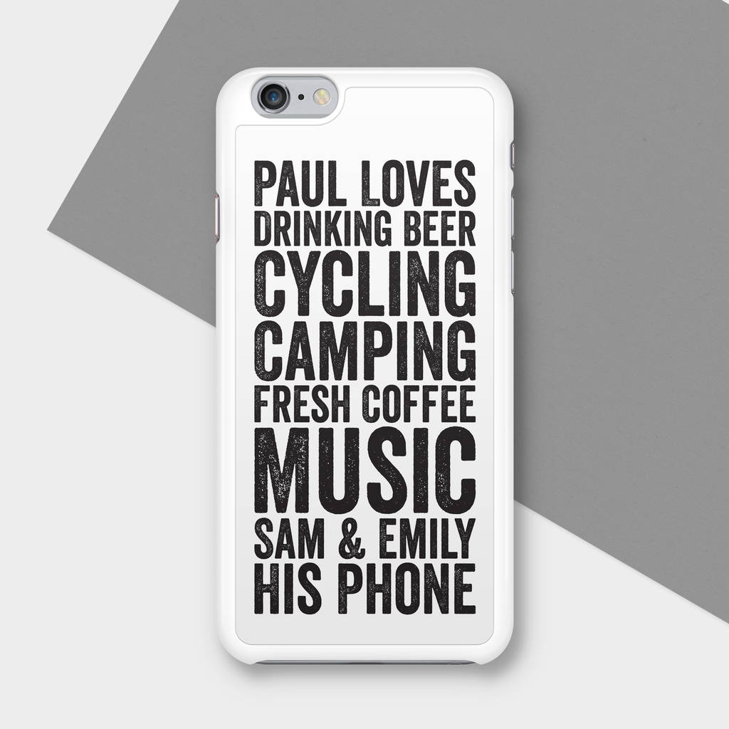 new concept 032cf 234c8 Letterpress Personalised Phone Case