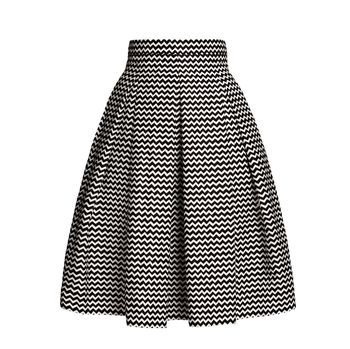 Ravello Chevron Midi Skirt