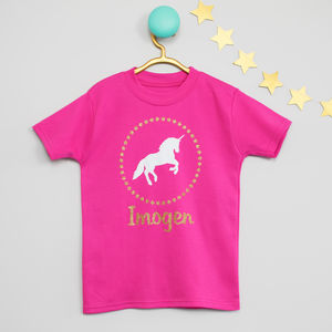 Sparkly Unicorn Personalised T Shirt - clothing
