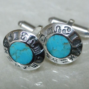 Turquoise Sterling Silver Cufflinks
