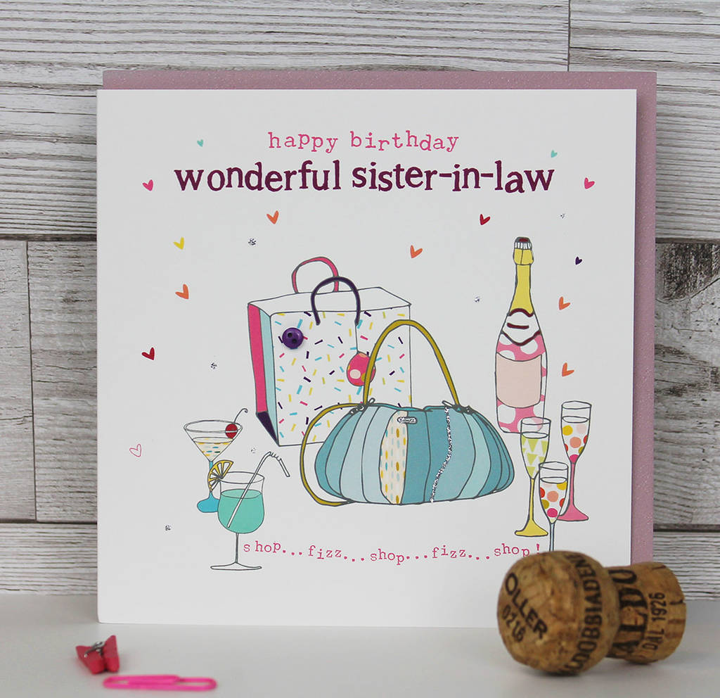 Sister Brother In Law Birthday Card