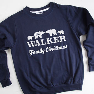 Personalised Polar Bear Family Christmas Jumper