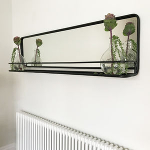 165cm Landscape Carriage Mirror With Shelf