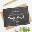 Will You Be Our Page Boy Card Chalk