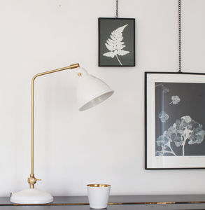 White And Gold Desk Lamp - lust list