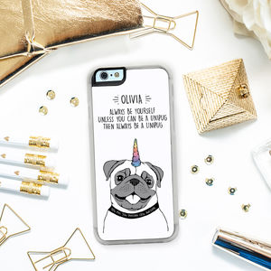 'Be A Unipug' iPhone Cover - womens