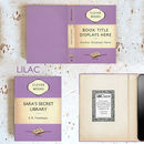 Lilac Purple Kindle Case with Penguin Book Theme