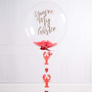You're My Lobster Personalised Valentine Bubble Balloon - room decorations
