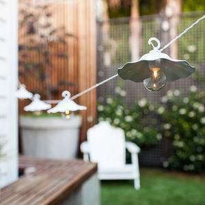 Santorini Outdoor Battery Café Lights - lights & lanterns
