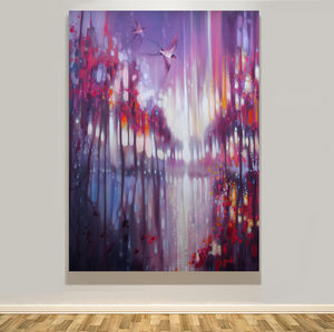 Winter Truth: An Abstract Winter Landscape - canvas prints & art