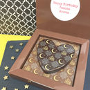 Eid Personalised Message Chocolate Heart On Square