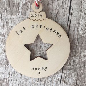 Personalised Baby's 1st Christmas Bauble Decoration