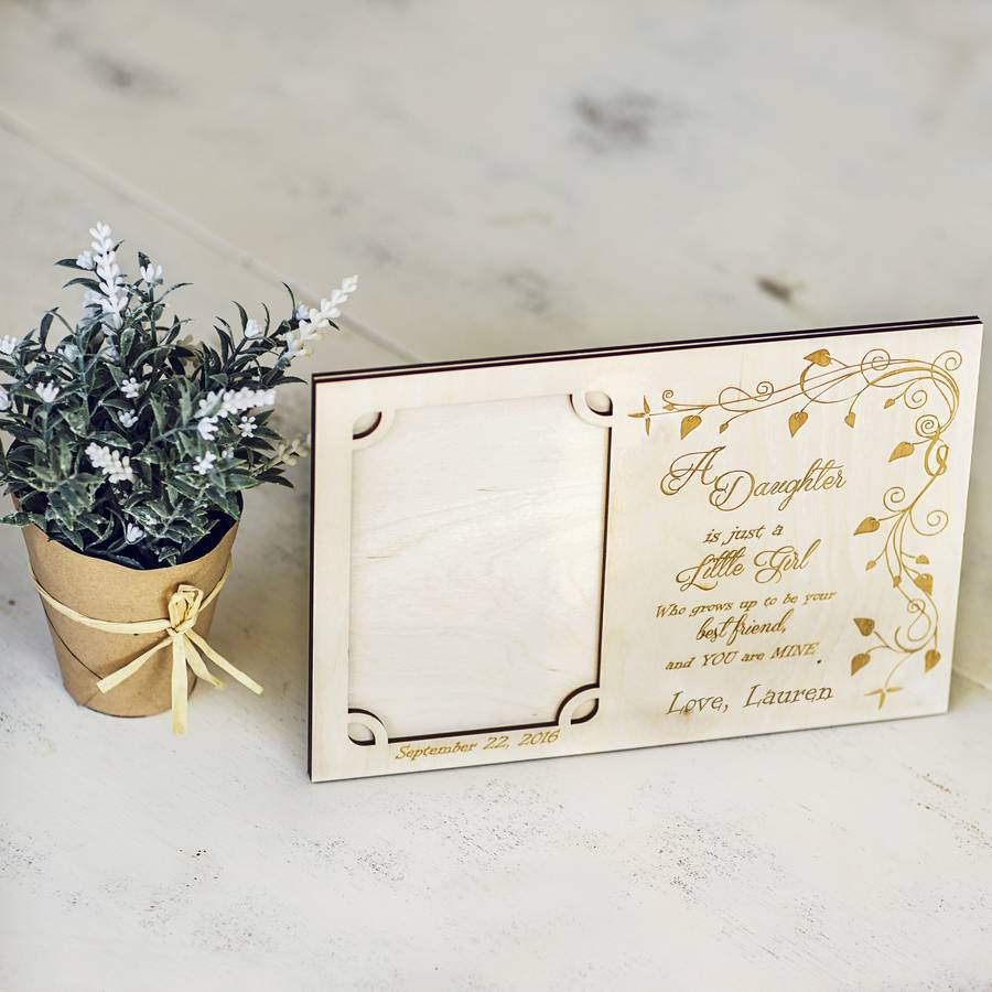 Mother Of The Bride Personalised Photo Frame By Natural Gift Store