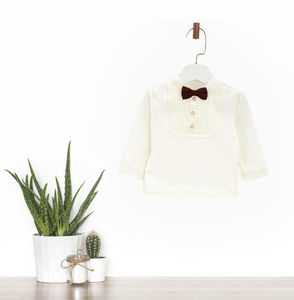 Special Occasion Shirt With Bowtie - shirts & blouses