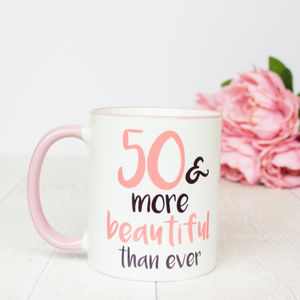 50th Birthday Gift Mug - dining room