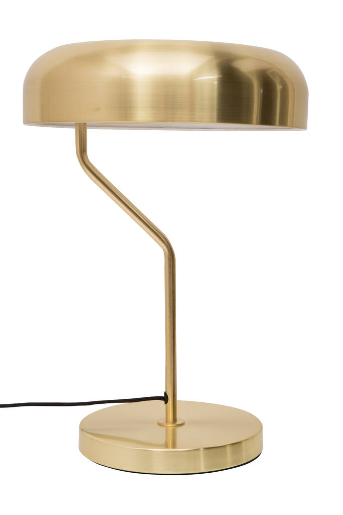 Eclipse Brushed Brass Desk Lamp