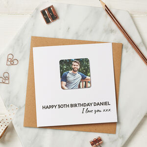 Personalised Birthday Photo Magnet Card
