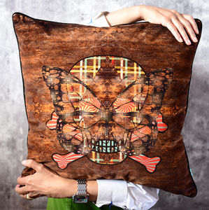 Large And Luxurious Velvet Cushion 'Blackpop' 55x55cm - view all new