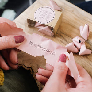 Origami 'Reasons Why I Love You' - wedding favours