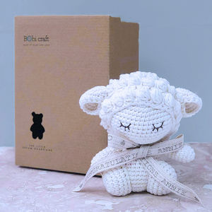 Personalised Barbra Lamb Soft Toy Teddy