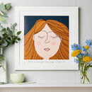 Personalised Female Face Framed Art Print
