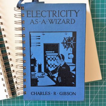 'Electricity' Upcycled Notebook