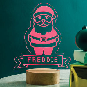Personalised Santa Night Light - christmas catalogue